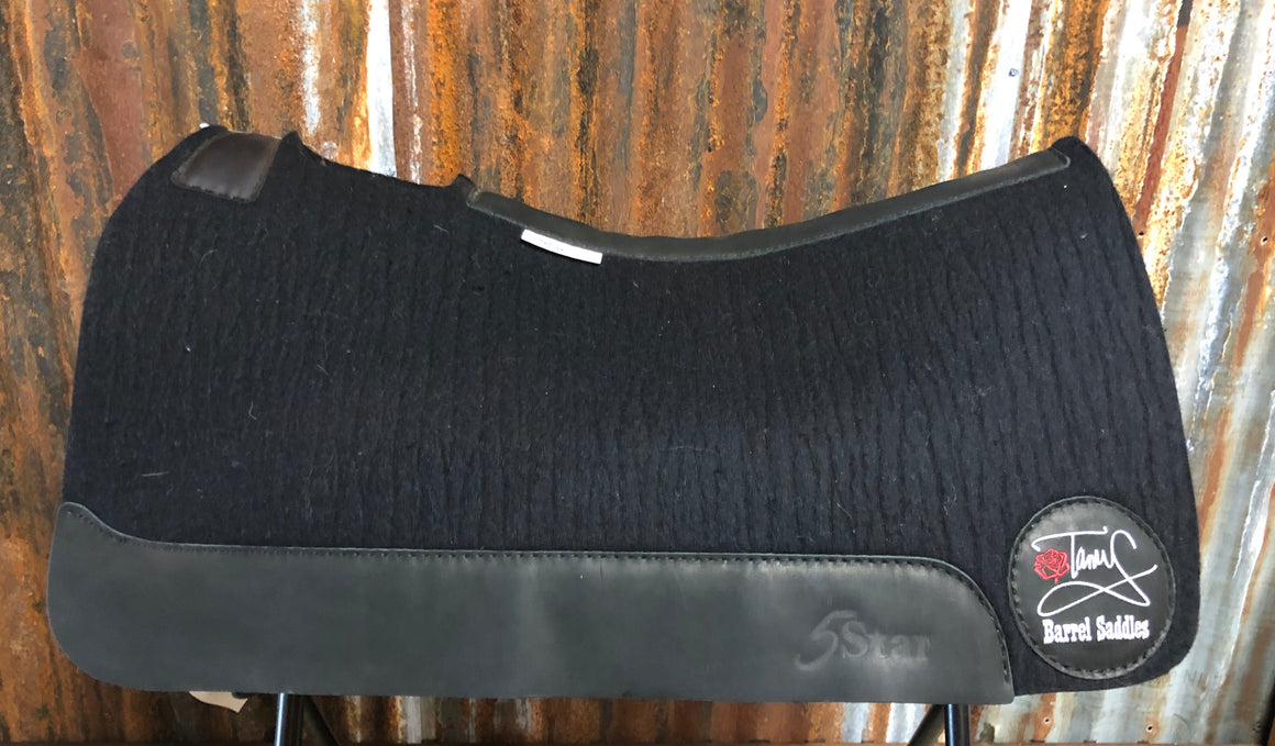 5 Star Saddle Pad Black