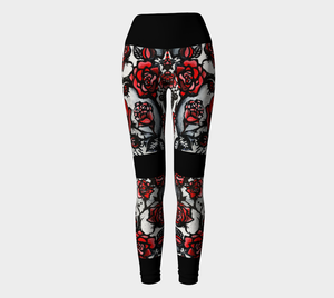 LEGGING SPORT #20 Les Roses Rouges