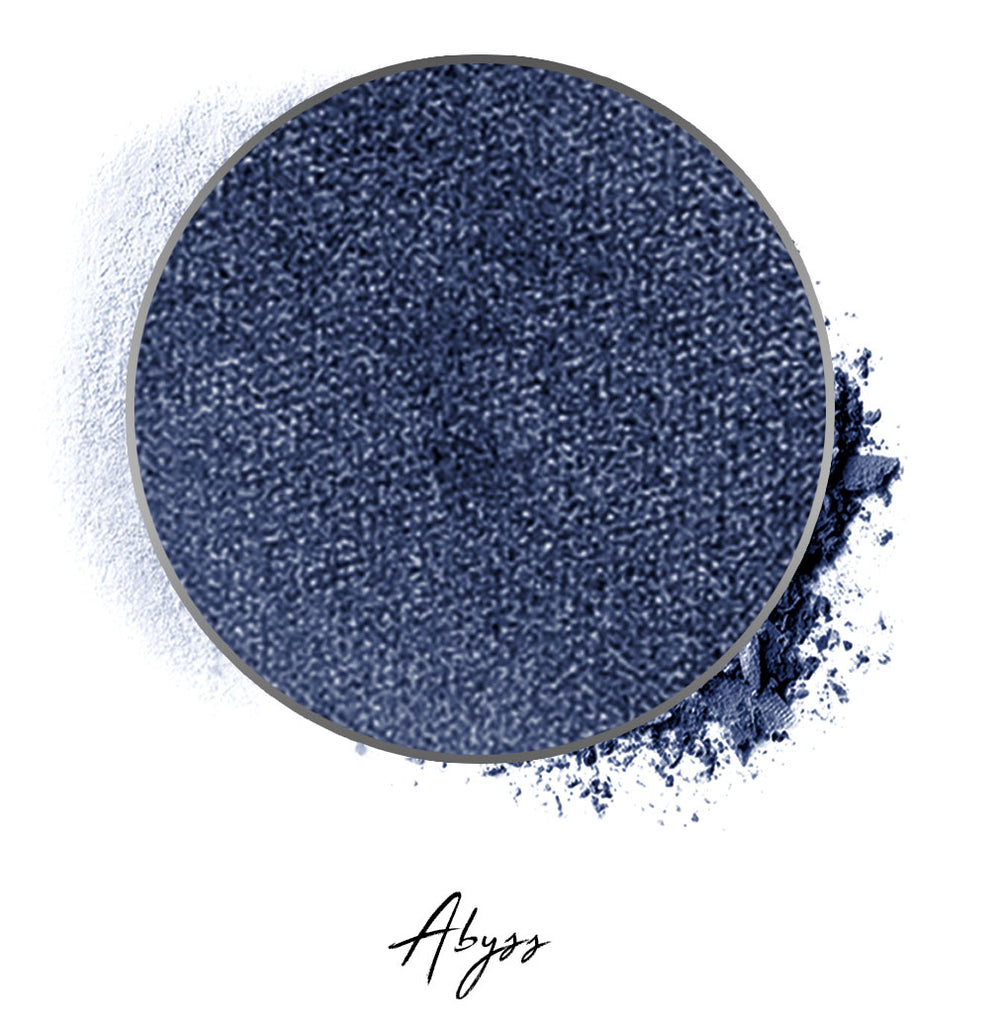 "a shimmer blue individual eyeshadow compressed powder refill in shade ""abyss"""