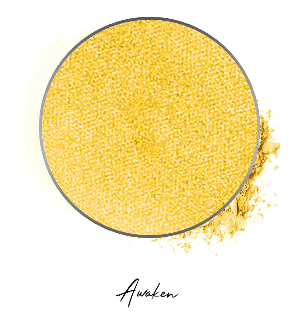 "a yellow individual eyeshadow compressed powder refill in shade ""awaken"""