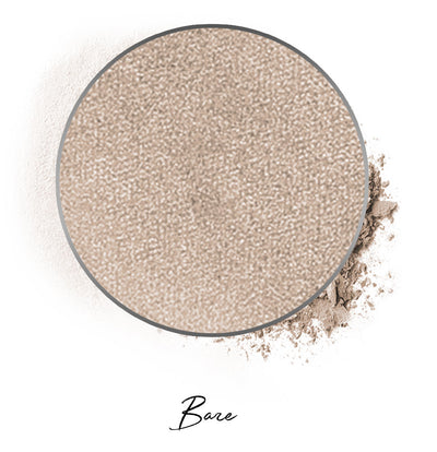 "a beige individual eyeshadow compressed powder refill in shade ""bare"""