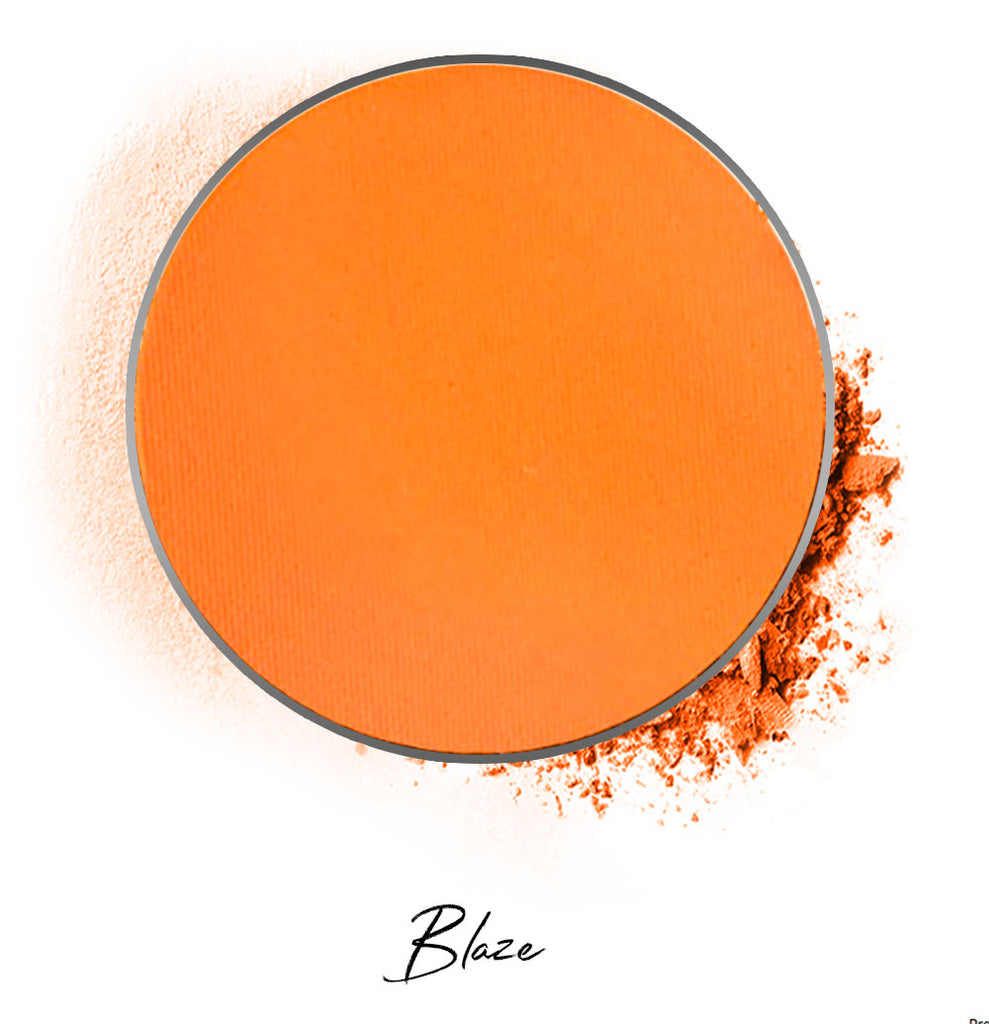"a orange individual eyeshadow compressed powder refill in shade ""blaze"""