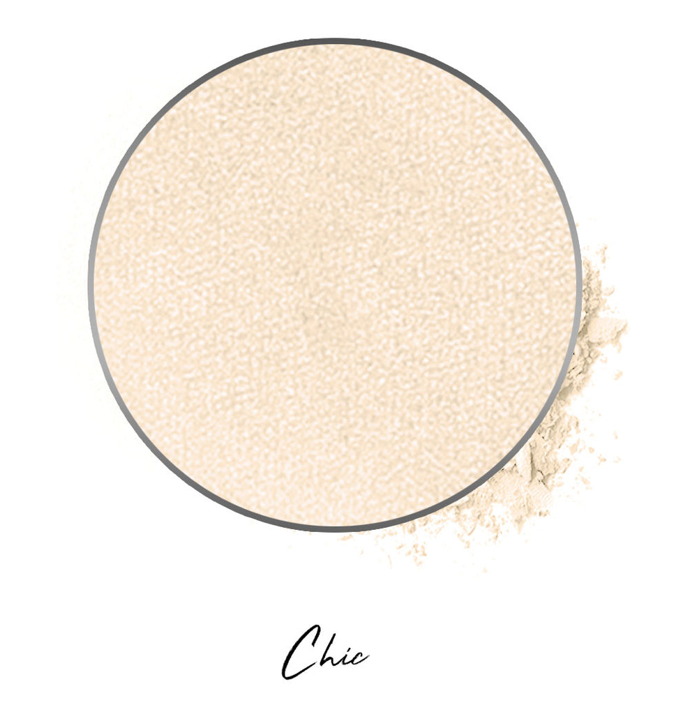 "an almond milk colored individual eyeshadow compressed powder refill in shade ""chic"""