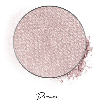 "a light mauve individual eyeshadow compressed powder refill in shade ""demure"""