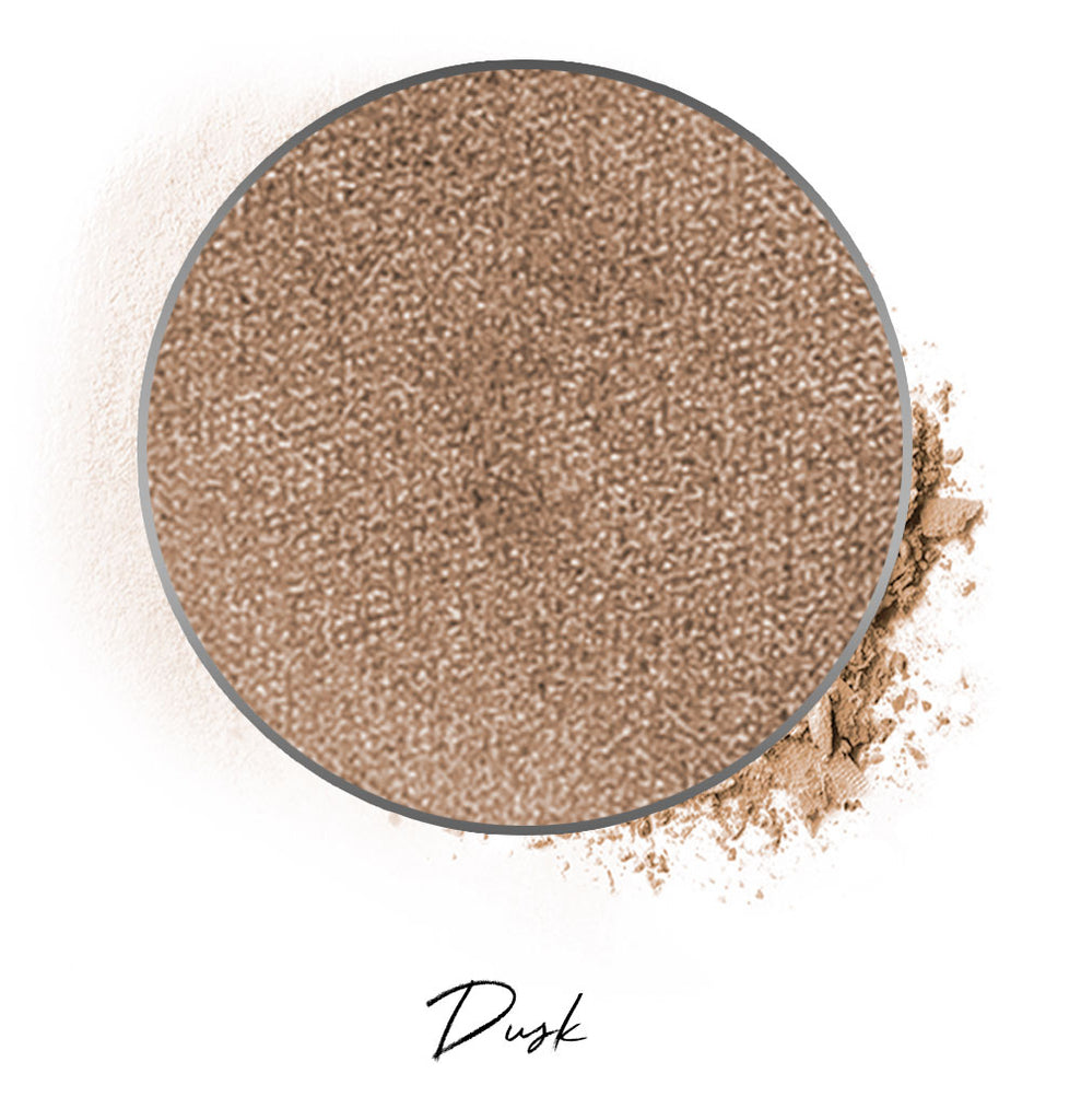 "a light brown individual eyeshadow compressed powder refill in shade ""dusk"""
