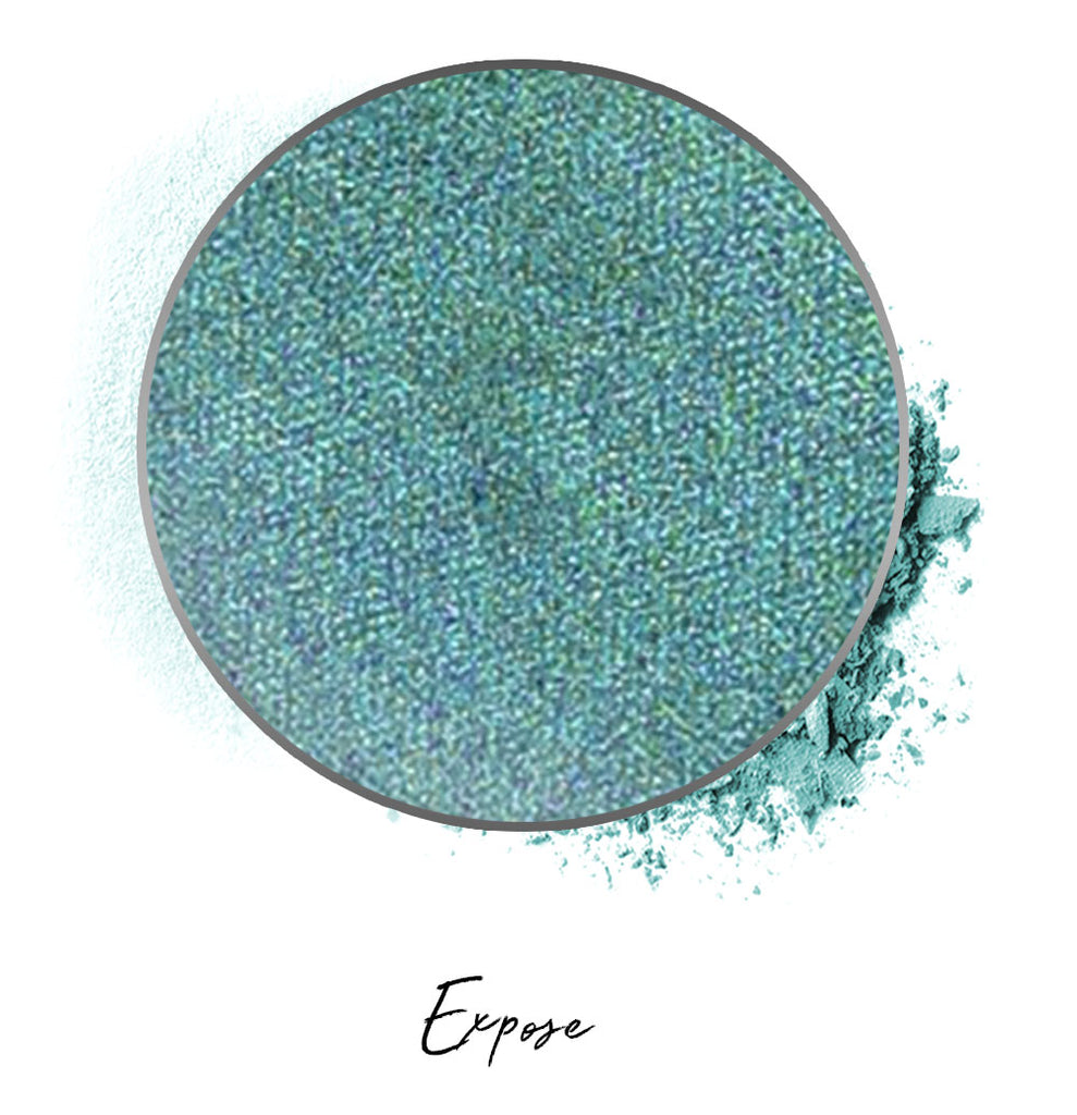 "a light green individual eyeshadow compressed powder refill in shade ""expose"""