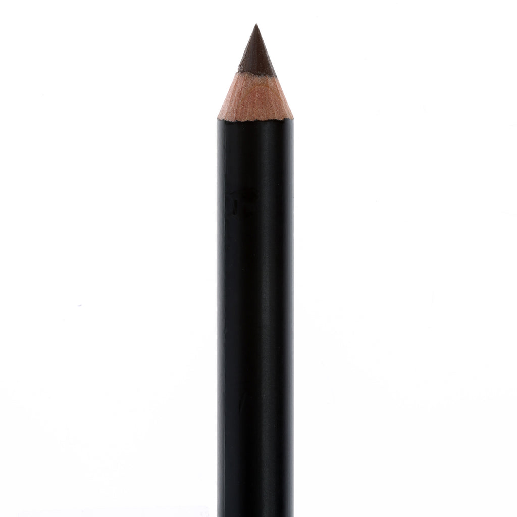 "Matte Black eye pencil, no top, in the shade ""Brown""."