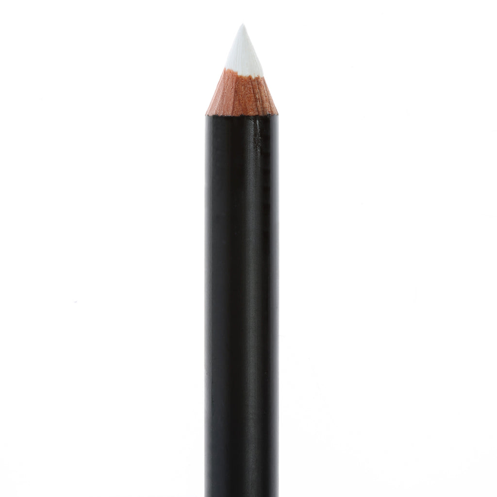 "Matte Black eye pencil, no top, in the shade ""Pure""."