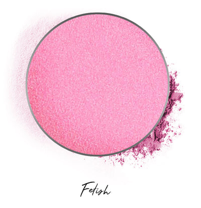 "a bubblegum pink individual eyeshadow compressed powder refill in shade ""fetish"""