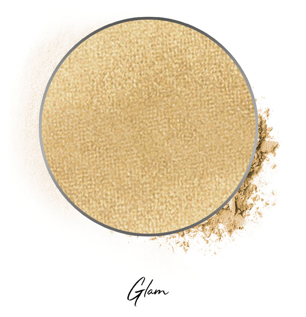 "a light gold individual eyeshadow compressed powder refill in shade ""glam"""