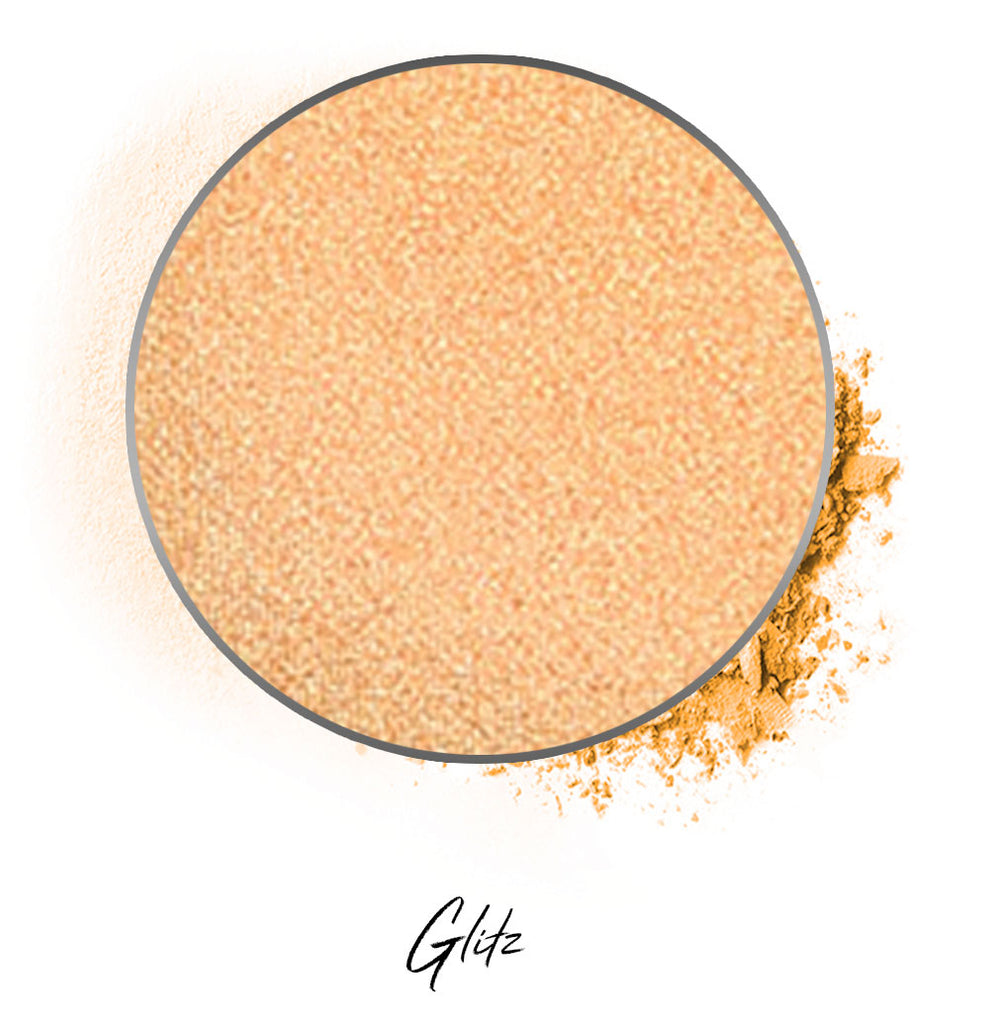 "a light warm gold individual eyeshadow compressed powder refill in shade ""glitz"""
