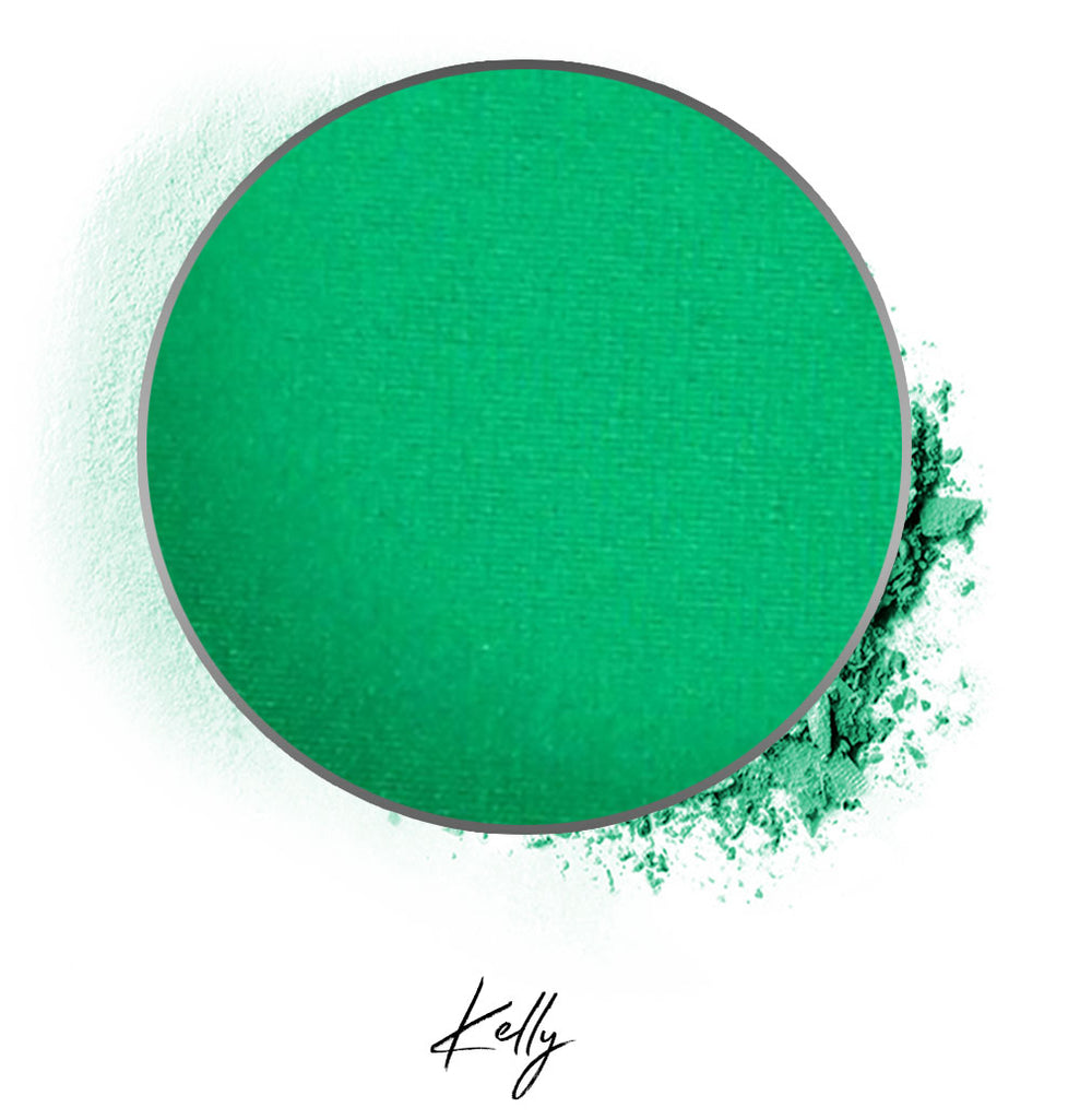 "a green individual eyeshadow compressed powder refill in shade ""kelly"""