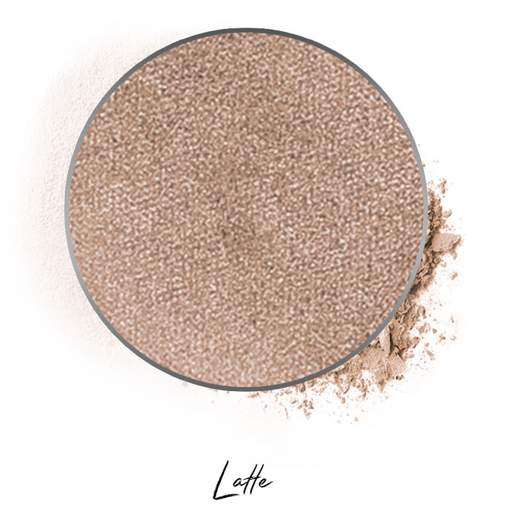 "a light brown individual eyeshadow compressed powder refill in shade ""latte"""