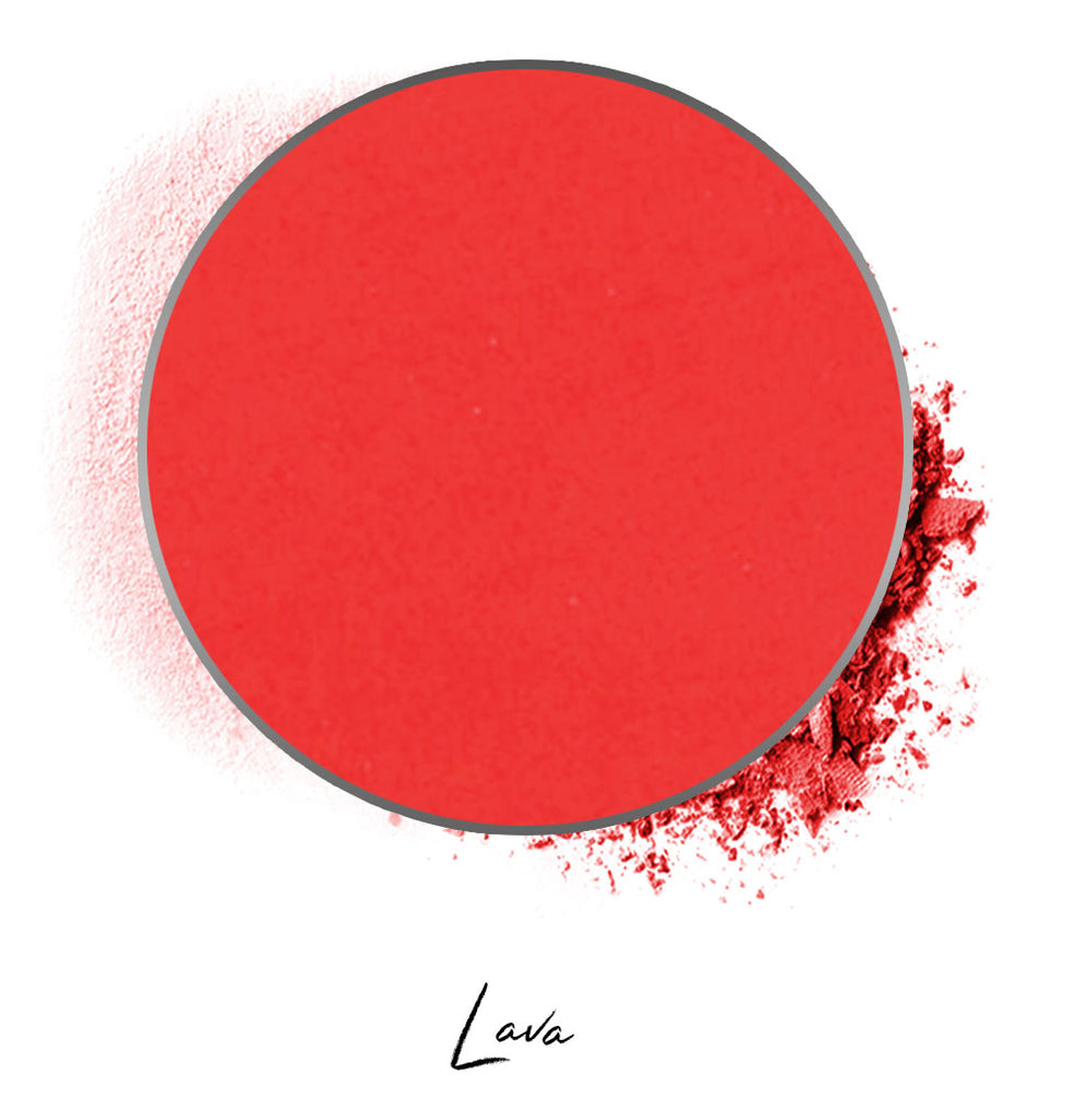 "a red individual eyeshadow compressed powder refill in shade ""lava"""