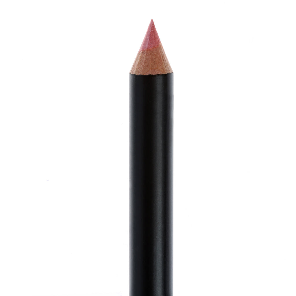 "Matte Black lip pencil, no top, in the shade ""Flirt""."