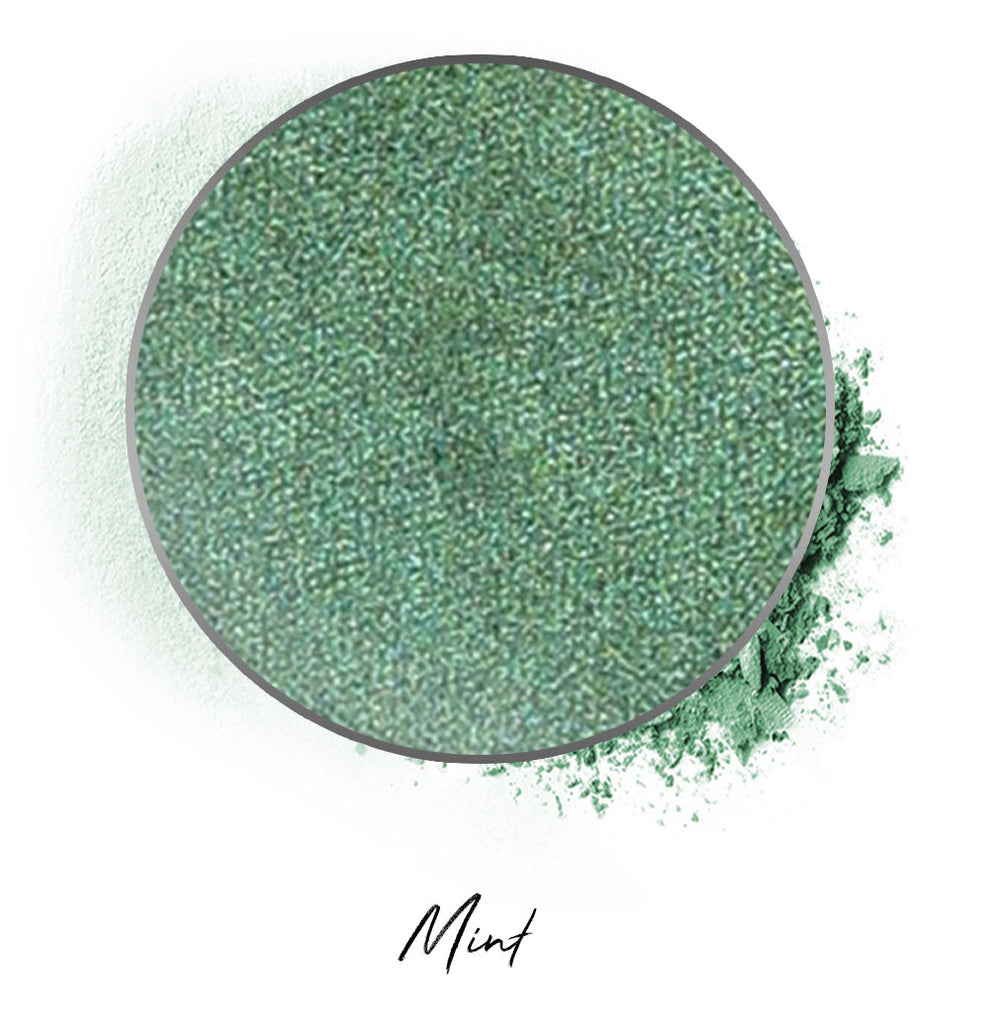 "a desaturated green individual eyeshadow compressed powder refill in shade ""mint"""