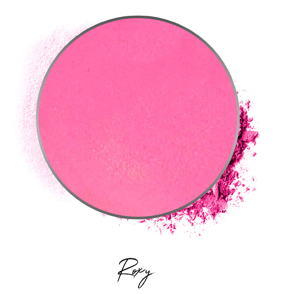 "a bright pink individual eyeshadow compressed powder refill in shade ""roxy"""