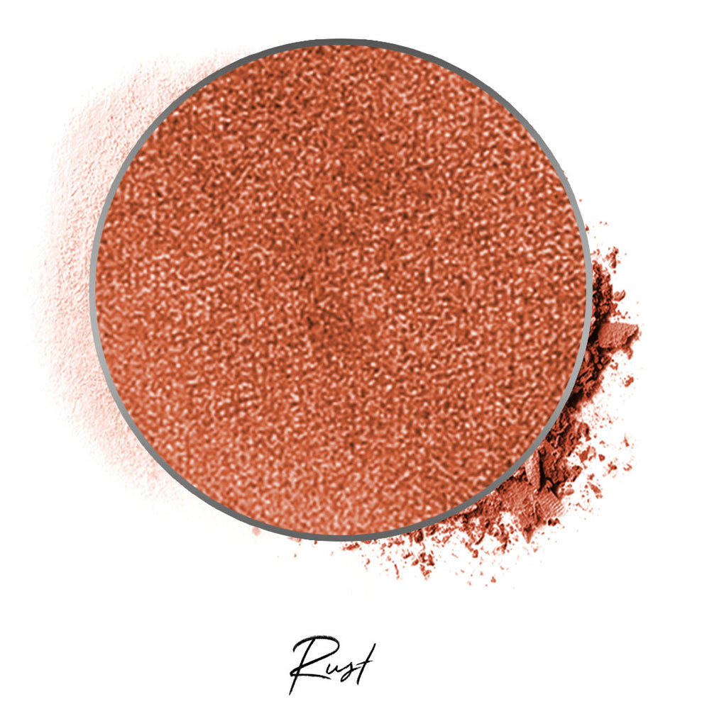 "a rust colored individual eyeshadow compressed powder refill in shade ""rust"""