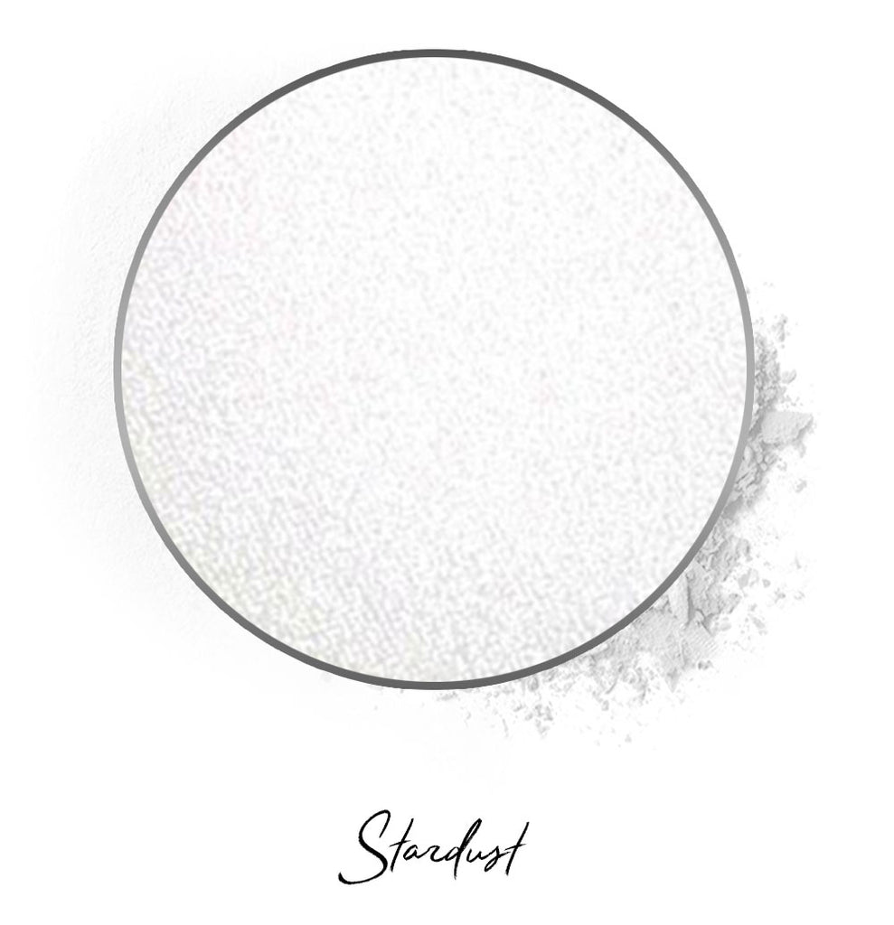 "a white individual eyeshadow compressed powder refill in shade ""stardust"""