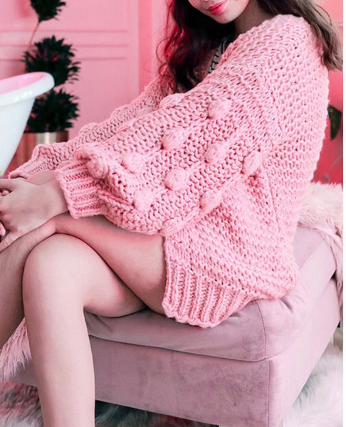 Pink Bubble Cardigan