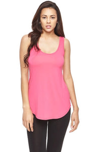 Fuchsia Round Bottom Tank Top