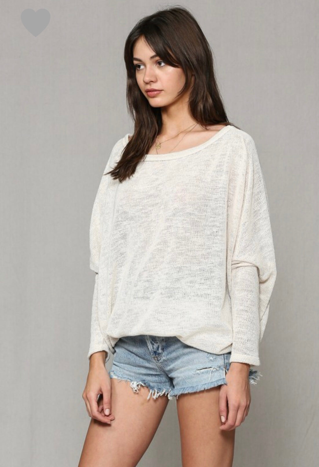 Oatmeal Lightweight Off The Shoulder Sweater