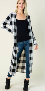 White Buffalo Plaid Duster