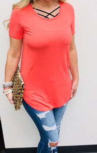 Coral Glam Tee