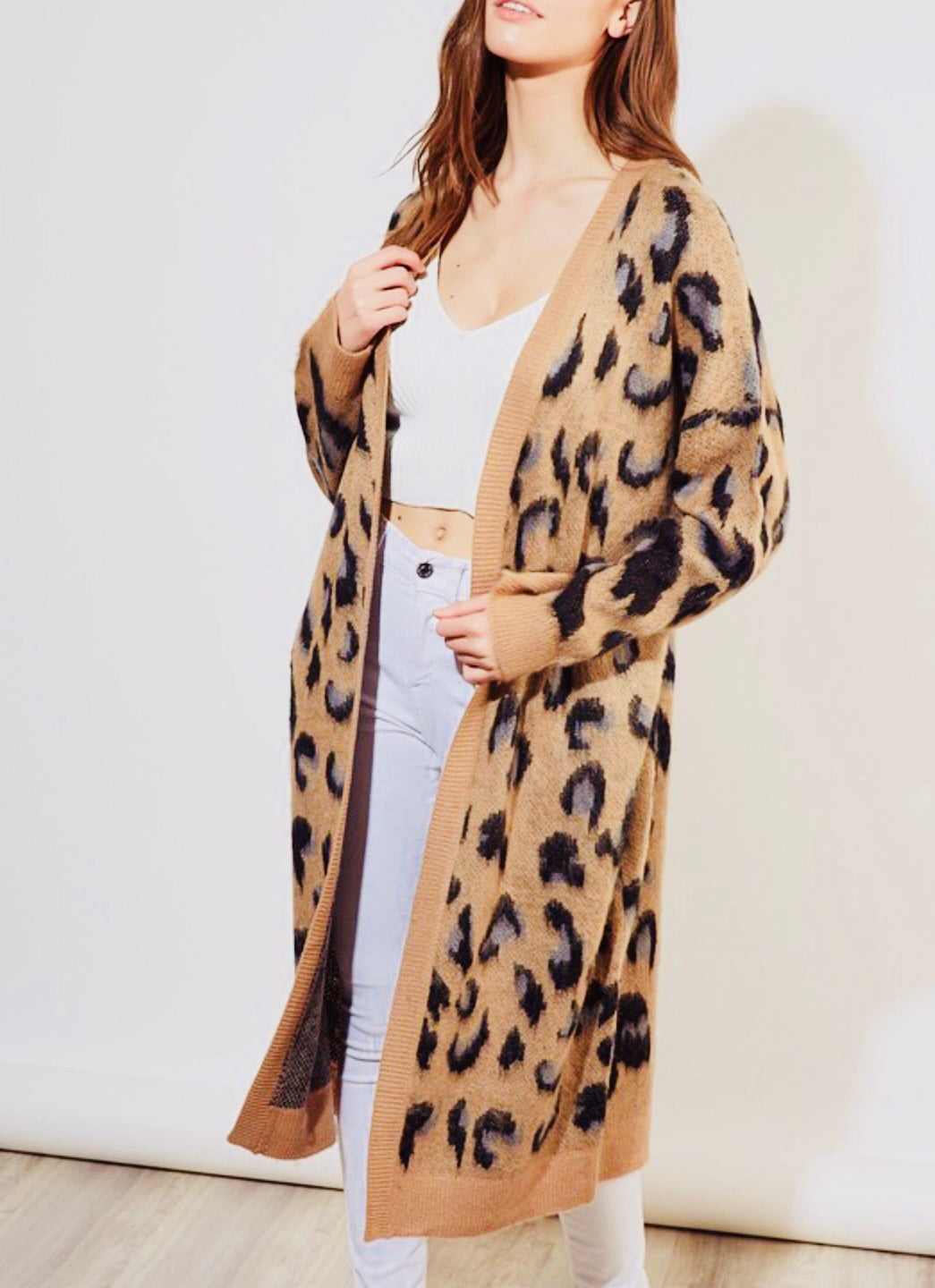 """Leopard is A Neutral"" Cardigan"