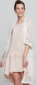White Lace Sleeve Duster
