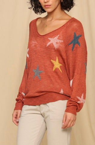 Copper Star Lightweight Sweater