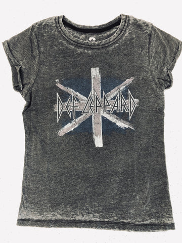 Grey Def Leppard Rocker Burnout Tee