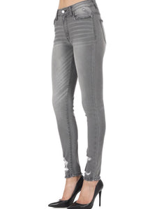 """Thinking Out Loud"" Grey Lightly Distressed Jeans"