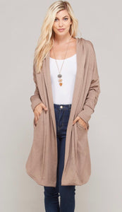 Mocha Hooded Sweatshirt