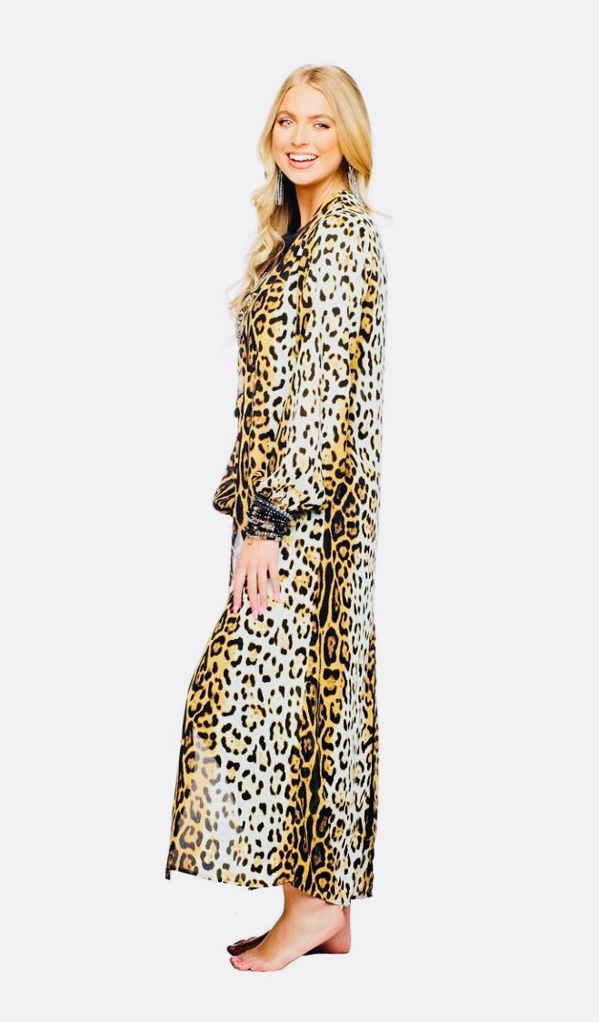 Leopard Serengeti Duster from Buddy Love