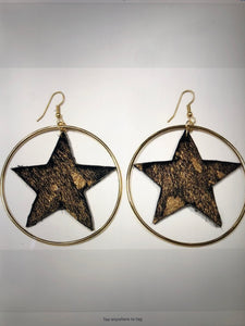 Black and Gold Splatter with Hoop Earrings