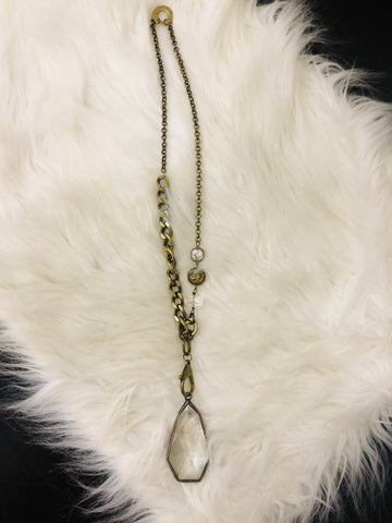 Crystal Love Chunky Pendant Necklace