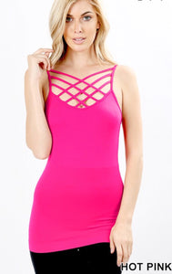 Hot Pink Cage Tanks