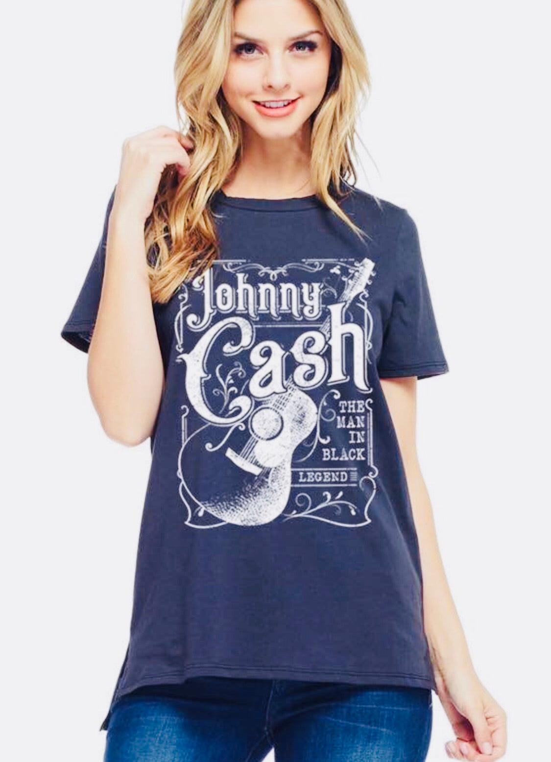 "Johnny Cash ""The Man In Black"" Graphic Tee"