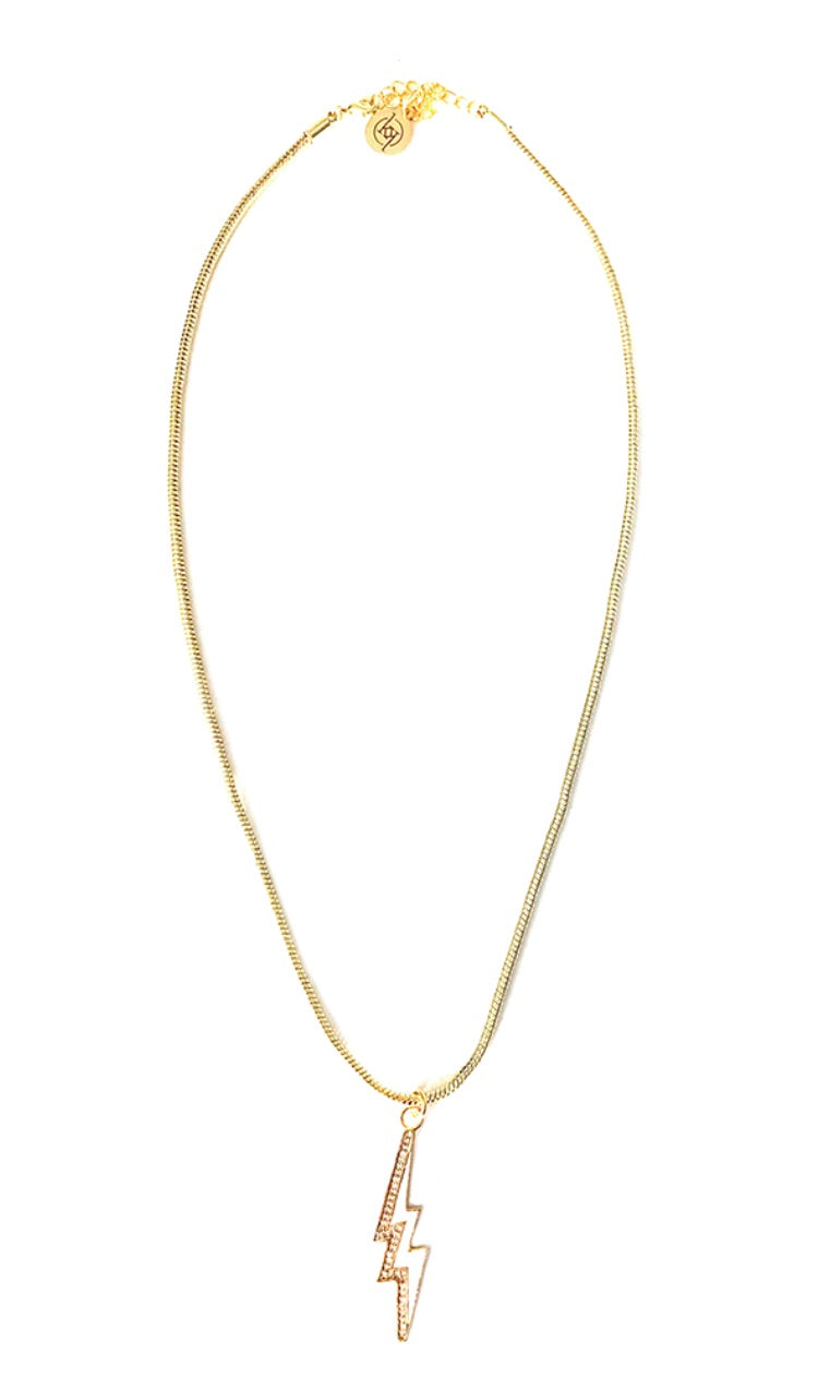 White/Gold Lightening Necklace