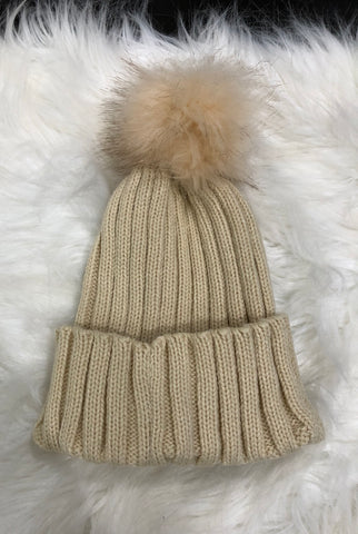 Cream Stocking Hat