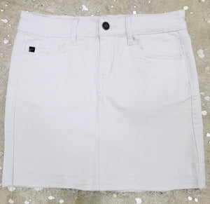 """The Luxe"" White Mini Skirt"