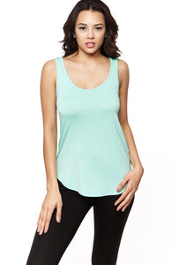 Mint Round Bottom Tank