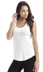 Ivory Round Bottom Tank Top