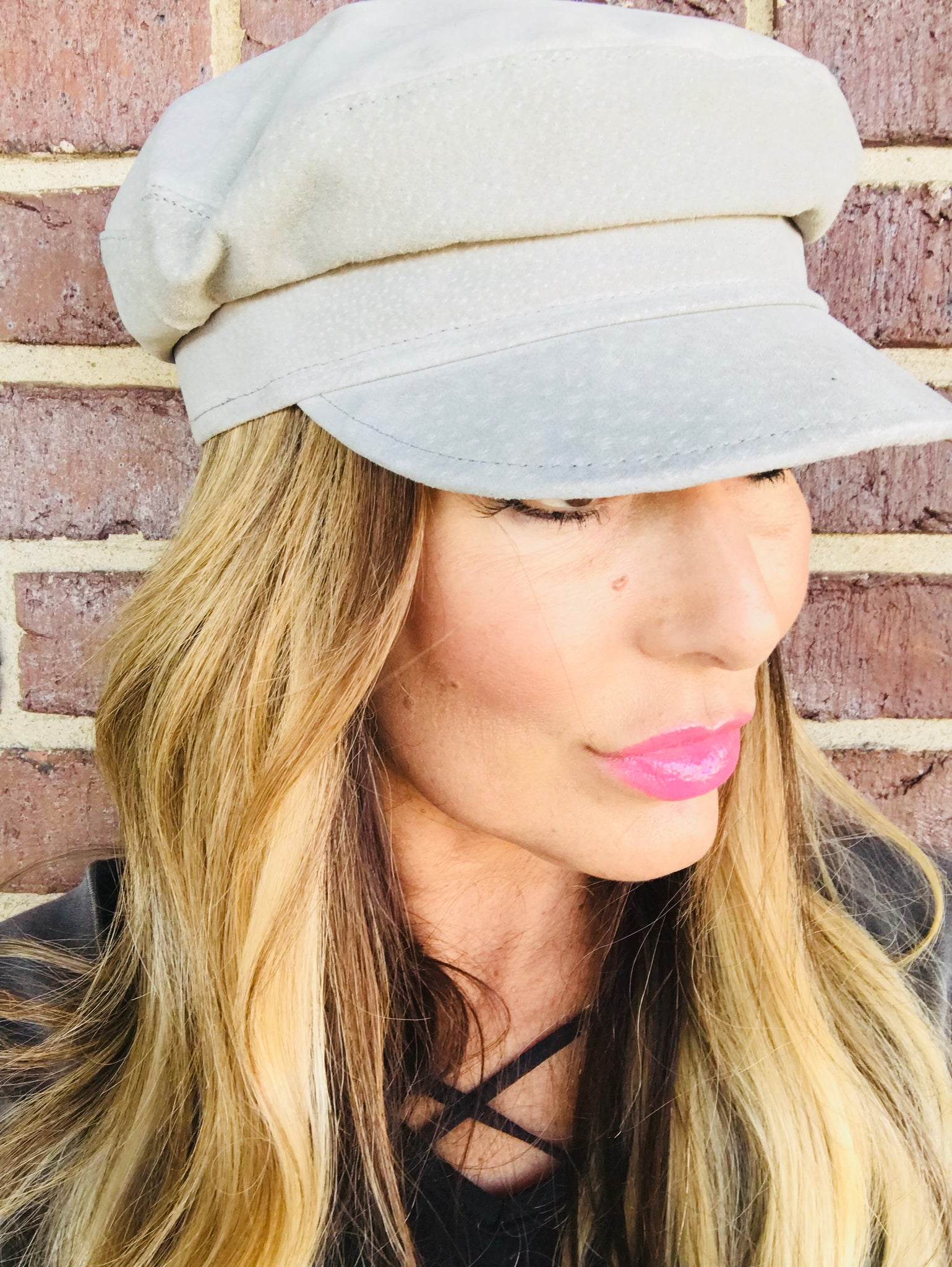 Suede Leather Fisherman Hat