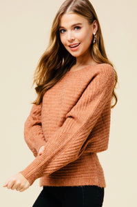 Chestnut Dolman Sleeve Sweater