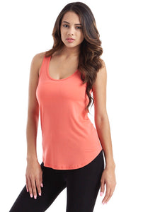 Coral Round Bottom Tank Top
