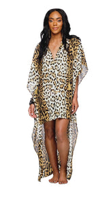 """Lola"" Leopard Print Hi Low Dress/Top"