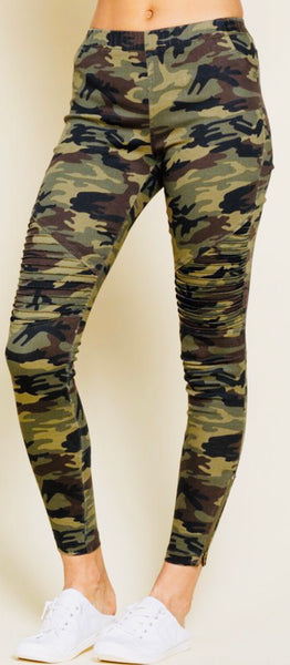 Camo Stretch Moto Jeggings