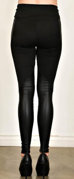 Faux Leather Leggings with High Waist
